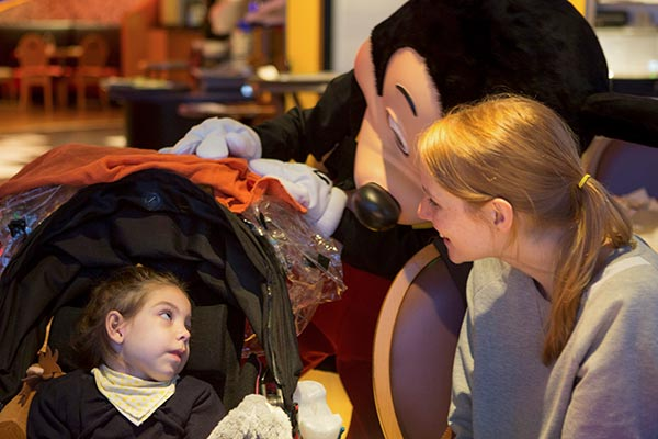 Amelie with Mickey Mouse